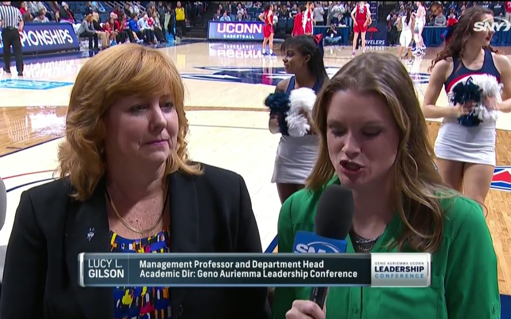 [VIDEO] Lucy Gilson is interviewed about the Geno Auriemma UConn Leadership Conference by SNY