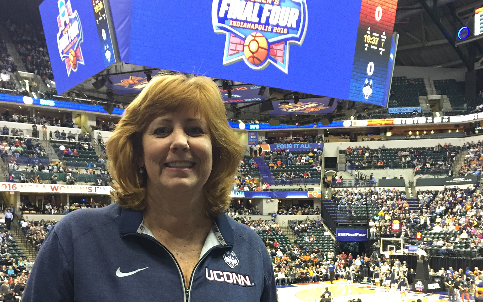 Lucy Gilson, head of the management department and faculty advisor to several of the women's basketball players, says 'If we each do our jobs well, we perform well as a team.' (Lucy Gilson/UConn School of Business)