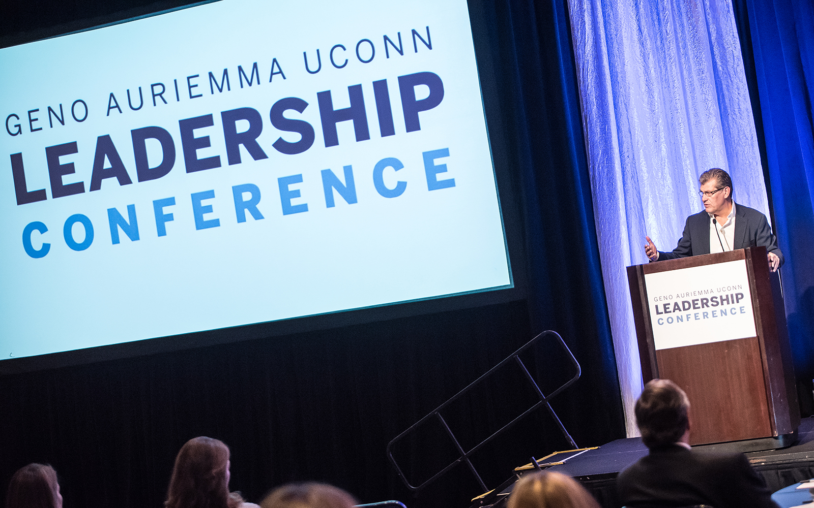 The third Geno Auriemma UConn Leadership Conference was held in October at Mohegan Sun, attracting some of the world's top executives from a vast variety of industries. (Nathan Oldham/UConn School of Business)